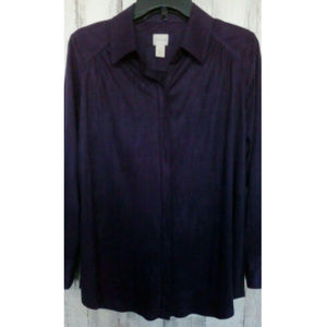 Chicos Womens Top Size 8 Chicos 1 Long Sleeves